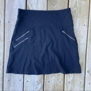 Athleta black zipper thick waist skirt size 4